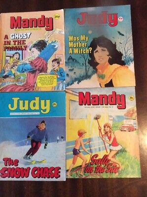 Mandy & Judy Vintage Picture Story Library For Girls Comics X 4 Magazines