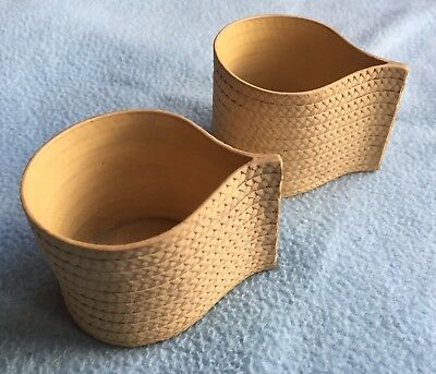 Rare18th Century Wedgwood Caneware basket weave Custard Cup Yellow Ware Pottery