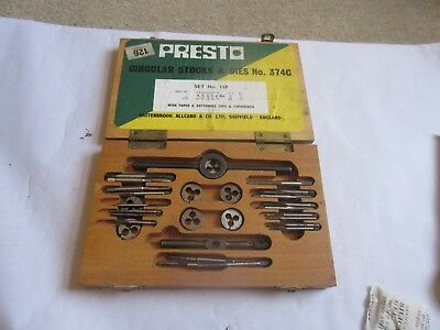 Presto UK 9BA Taps and Dies HSS First plug Direct from RDGTools second