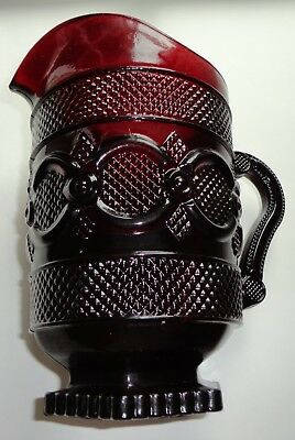 Avon Cape Cod 1876 Collection Ruby Red Glass Pitcher New with Box