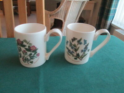 Set Of 2  Portmeirion Botanic Garden Mugs  New  (B)