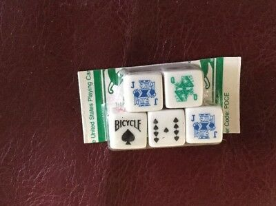 Vintage Bicycle Poker Dice Set of 5 Casino Gambling Lot 15 3 Complete Sets Cards