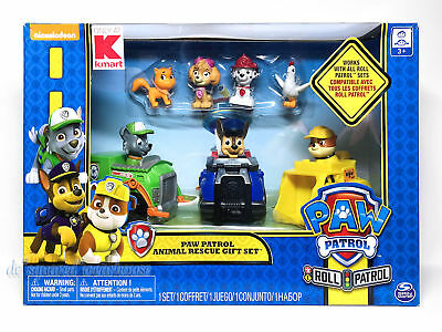 Paw Patrol Animal Rescue Gift Set 7 Figures 3 Racers Chickaletta and Kitty