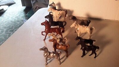 Bergen Lot of Horses 50s 60s. Hard Plastic Playset