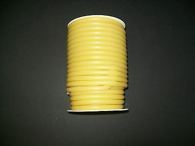 """50 Continuous Feet 1/4"""" ID x 1/8 wal x 1/2 OD Natural Latex Rubber Tubing amber"""