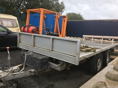 twin axle flatbed trailer Indespention