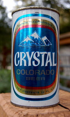 Nice Crystal Flat Top Beer Can! Walter's Of Colorado Classic!