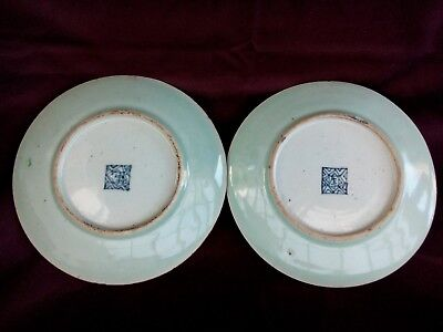 antique Chinese Canton Famille Rose Two plate