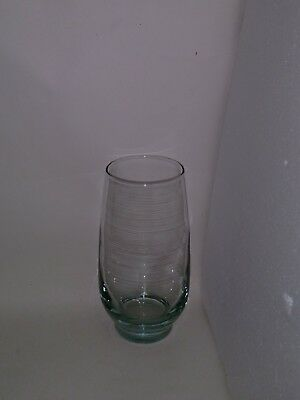 1 MCM Vtg RARE Aqua Blue LIBBEY TEMPO BAR DRINK GLASS COOLER TUMBLERS 20 Oz
