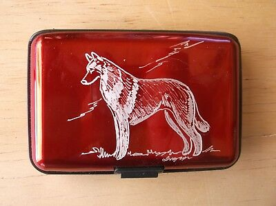 Belgian Malinois- Hand engraved  Stainless Credit Card Wallet by Ingrid