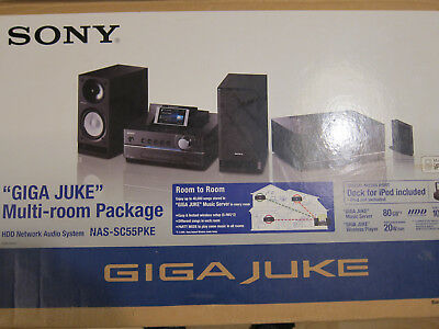 Sony Gigajuke NAS-S55HDE and 2 x NAS-C5E Satellite Speakers
