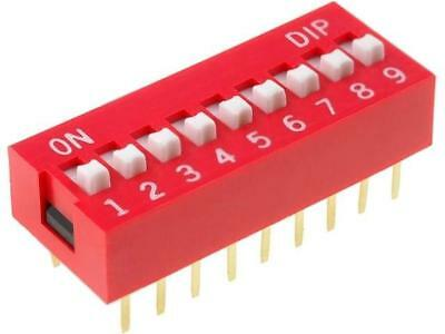 DS-09 Switch DIP-SWITCH Poles number9 ON-OFF 0.05A/12VDC -25÷80°C