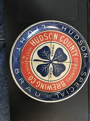 Hudson County Consumers Brewing Co West Hoboken NJ Beer Tip Tray Pre-Prohibition