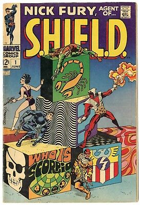 Nick Fury, Agent of SHIELD #1 FN/VF 7.0 ow/white pages  Marvel  1968  No Reserve
