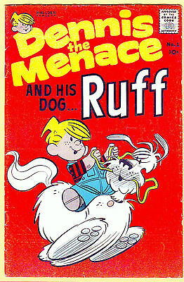 DENNIS The MENACE And His DOG RUFF, #1, FNVF (7.0), Hallden/Fawcet, 1961