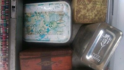Deed box and tins