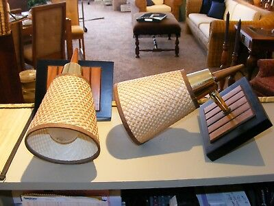 PAIR of FABULOUS Danish Modern-Style Wall Sconces...Nice Mid-Century Lamps~!