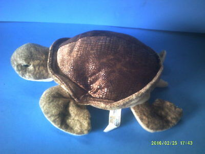 Plush Sea Turtle with Shimmering Shell