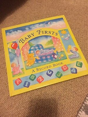 Baby Firsts Record Book