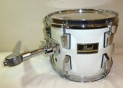 PEARL EXPORT RC white 10 X 9 mounted/hanging Tom Tom drum with arm, used