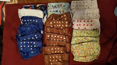Diaper covers PUL Waterproof-Birth to Toddler size-All in Two style 19+ pieces