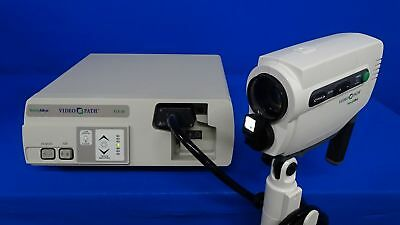 Welch Allyn 88100 Videopath Coloposcope on Rolling Stand with VLX-20 Video Light