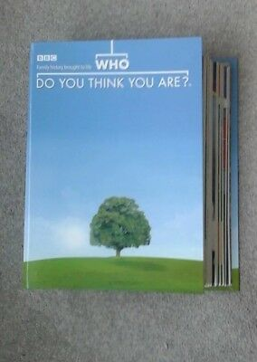 """BBC """"Who Do You Think You Are"""" Magazine.  Issues 1 - 13 in Binder."""