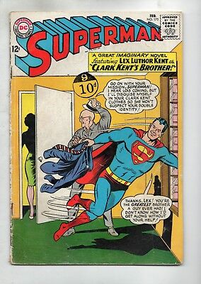 Superman # 175 / Dc 1965 / V.good / Clark Kent's Brother.