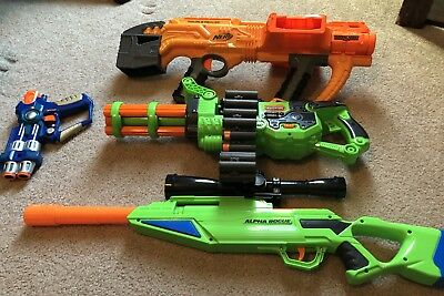 Nerf Gun Lot Of 4