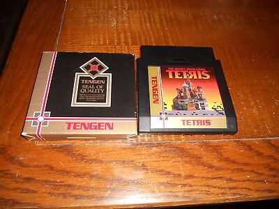Tetris Tengen with sleeve The Soviet Mind Game (Nintendo NES)