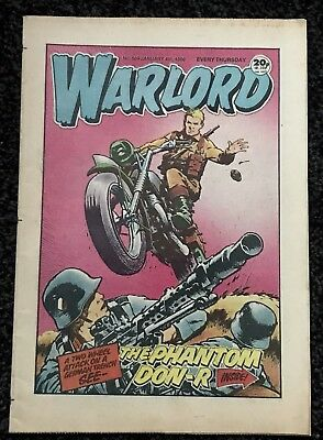 ⭐️WARLORD COMIC No 589 JANUARY 4TH 1986 IN GOOD CONDITION ORIGINAL PATINATION ⭐️