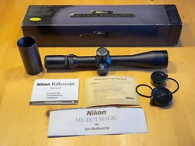 Nikon Tactical 2.5-10x44mm Rifle Scope 30mm tube Mildot 6692 Lifetime Warranty