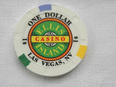1 $ Poker Chip / Casino * Ellis Island * / Las Vegas / Nevada / Usa