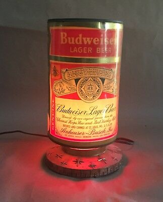 Budweiser Lager Beer Can Rotating Heat Lamp Motion Sign
