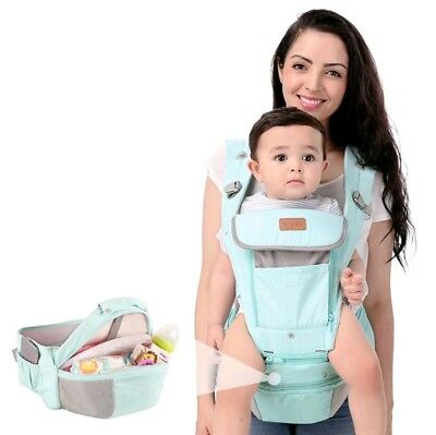 Baby Carrier with Hip Seat Storage for All Seasons - Ergonomic *NWT* Mint Green