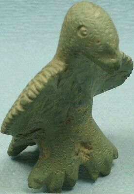 Ancient Bronze Zoomorphic Artifact, Legionary Eagle