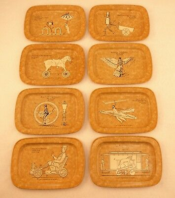 The Youngstown Sheet and Tube Company Metal Trays Set of 8