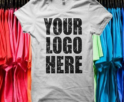 10 Custom shirts Screenprinted Text Personalized Your Logo Photo Front/Back