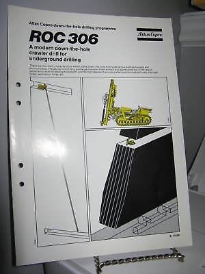Atlas Copco ROC 306 Crawler Drill Sales Brochure 8 Pgs - VG