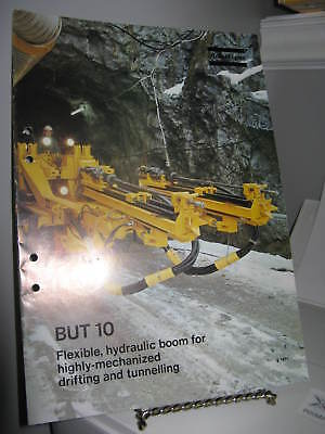 Atlas Copco BUT 10 Hydraulic Boom Tunnelling Sales Brochure 12 Pgs - VG