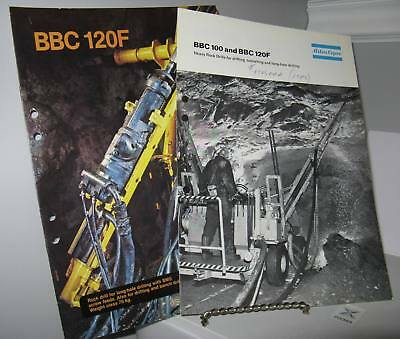 Atlas Copco BBC 100 & 120F Mining Rock Drill Sales Brochures 12 Pgs - Goodd