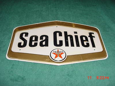 Vintage Texaco Sea Chief Gas Pump Plate