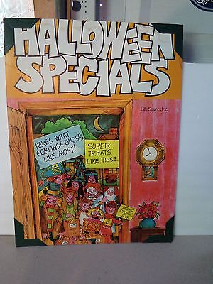 "Vintage Advertising BIG Halloween Specials Life Savors STORE Display Sign 24"" H"