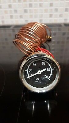 Smiths style TIM 52mm Capilliary Oil Pressure Gauge Mini MG Triumph Kit Car