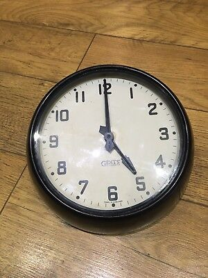 "Vintage Gents Of Leicester  11"" Wall Clock"