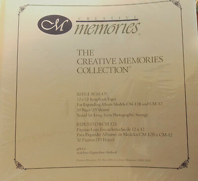 Creative Memories Scrapbook Pages 12 x 12 Old Style Refill RCM-12S 15 sheets/30