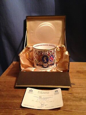 A Large Paragon Commemorative Loving Cup - Queen Elizabeth Silver Jubilee