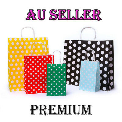 Bulk 10-100pc Kraft Paper Bag Gift Carry Shopping Bags Christmas Party Gift Bags