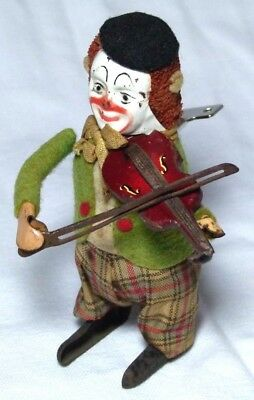 Rare Old Antique Schuco Clown Violinist Musician Type Wind-Up Toy 1920S/30S
