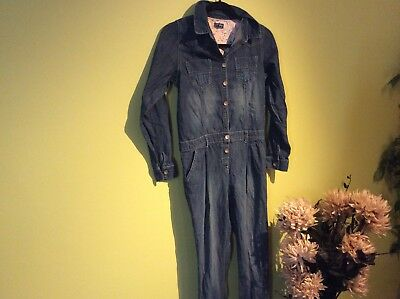 Designer next girls dungarees all – in – one denim jumpsuit size 13 years